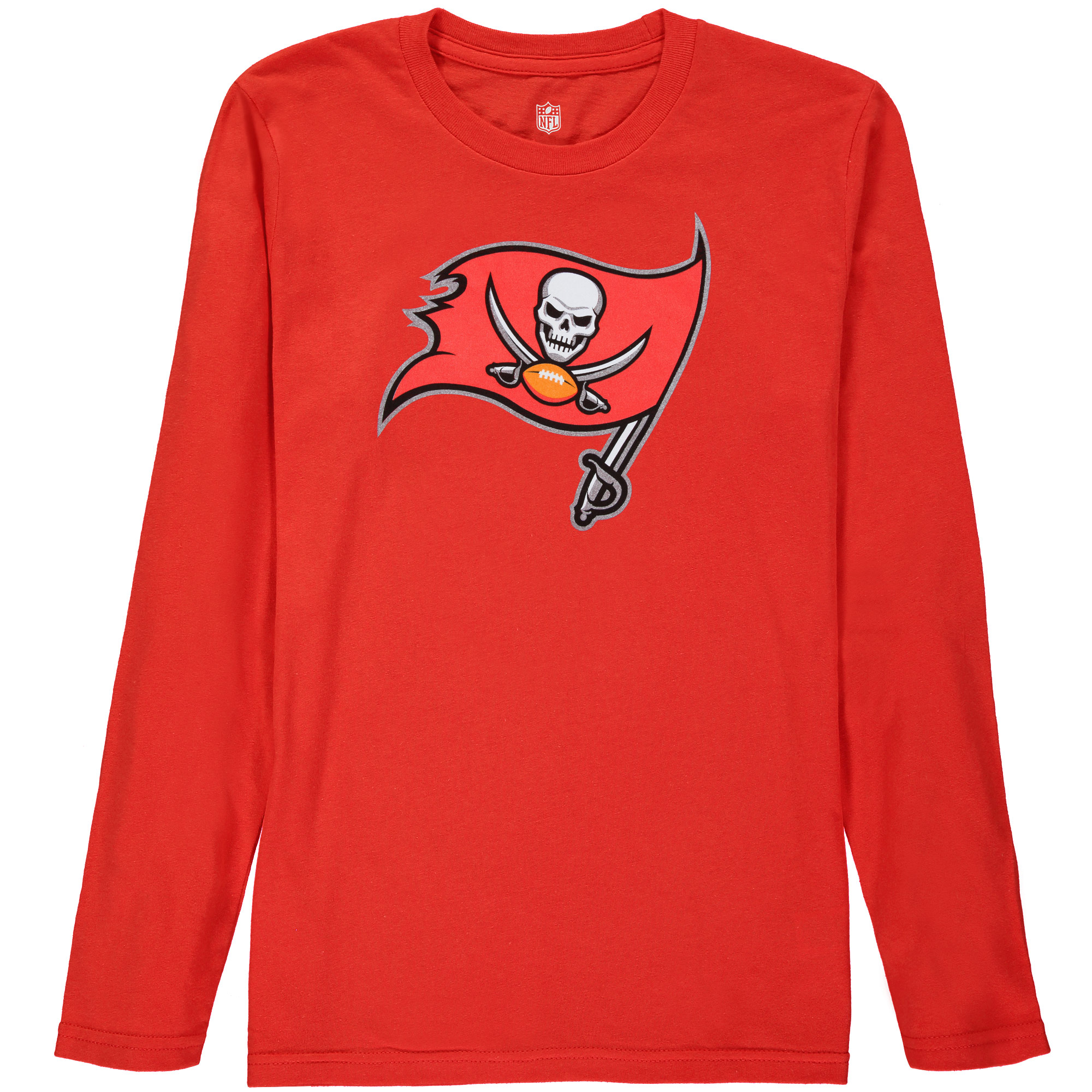 Tampa Bay Buccaneers Youth Team Logo Long Sleeve T-Shirt - Red