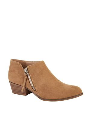 Portland Boot Company Side Zip Faux Suede Bootie (Women's)