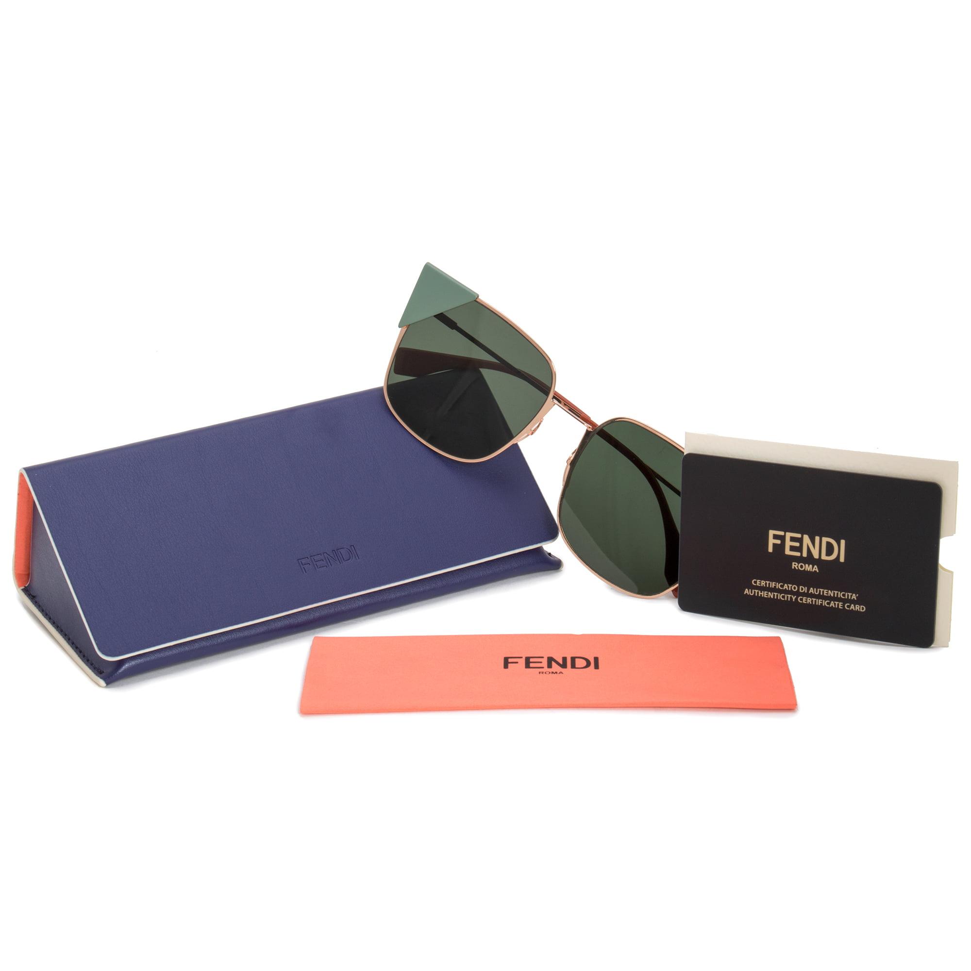 f3b08e7b2e9 Fendi - Fendi Lei Square Sunglasses FF0191S DDB 07 55 - Walmart.com