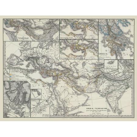 International Map Europe Middle East Asia Spruner 1865 29 75