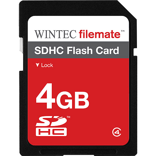 Wintec FileMate 4GB SDHC Secure Digital Flash Memory Card