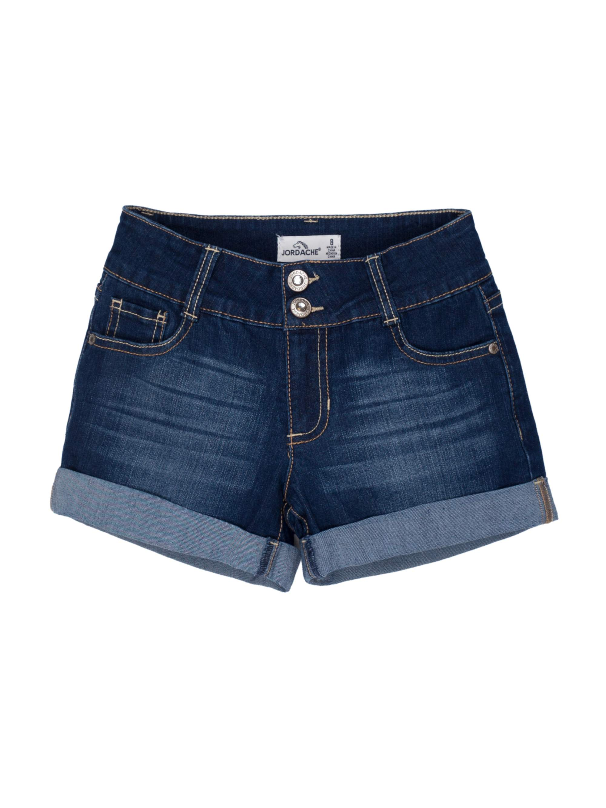 Rolled Cuff Denim Short (Little Girls & Big Girls)