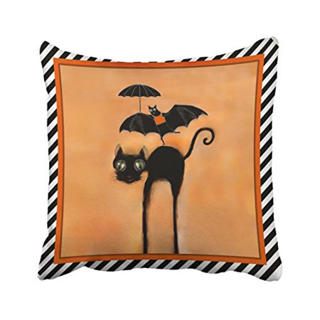 WinHome Halloween Party Decor Throw Pillow Covers Cushion Cover Case 18x18 Inches Pillowcases Two Side](Throw The Best Halloween Party)