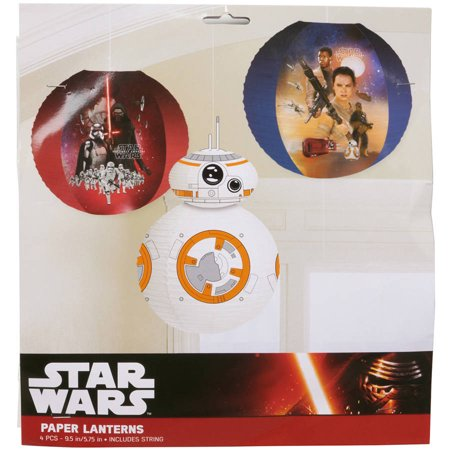 Star Wars Episode VII Paper Lantern Decoration, 3 Count, Party Supplies