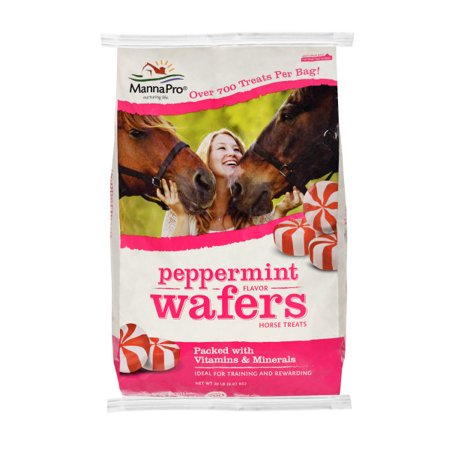 Manna Pro Peppermint Wafers Horse Treat, 20 lbs. (Horse Salt Lick)