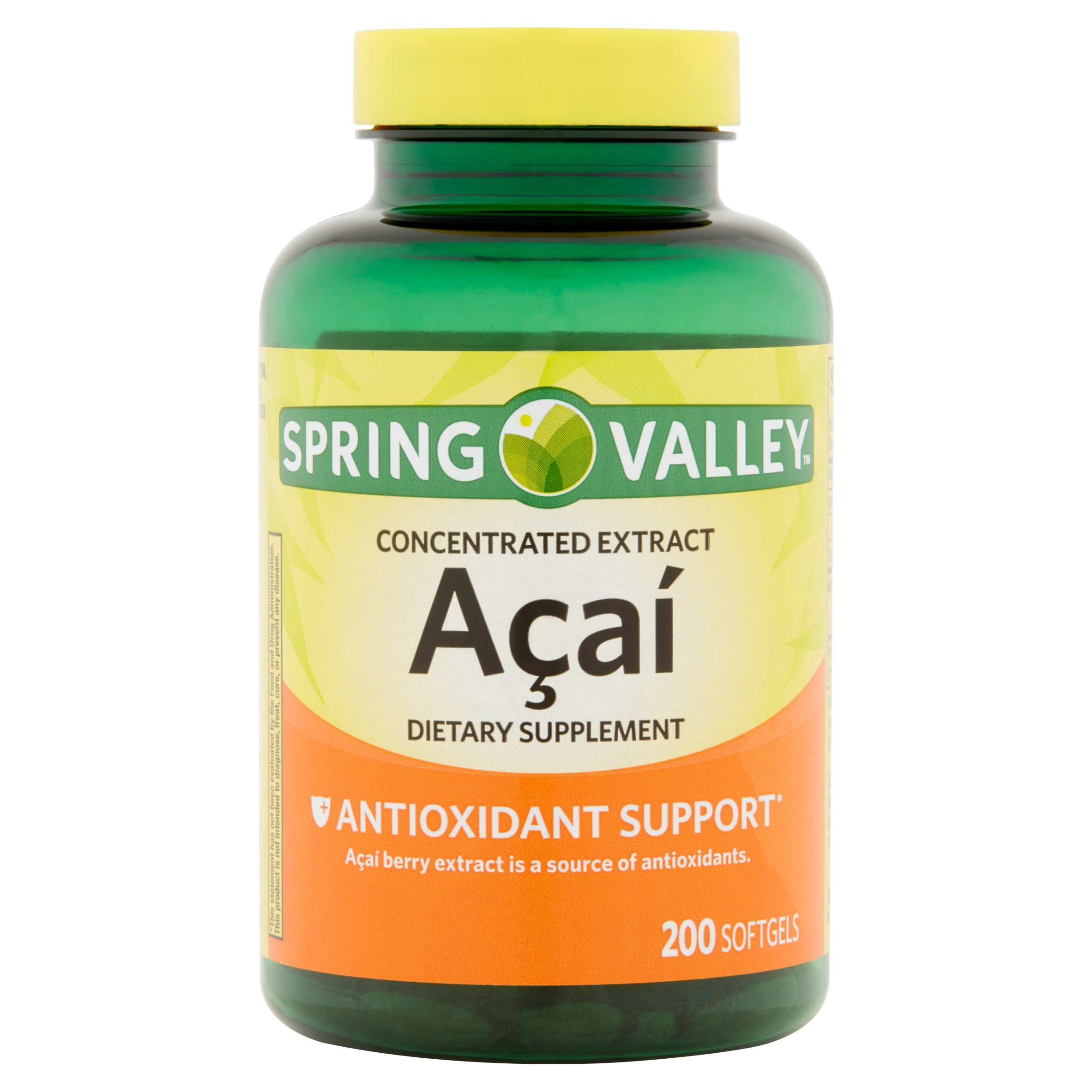 Spring Valley Acai Extract Softgels, 50 Mg, 200 Ct