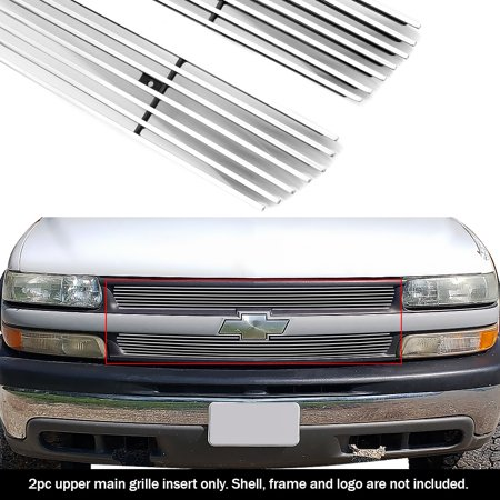 APS Main Upper Billet Grille Grill Compatible with Silverado 1500 00-06 Suburban Tahoe N19-A10756C Grillcraft Upper Billet Grill
