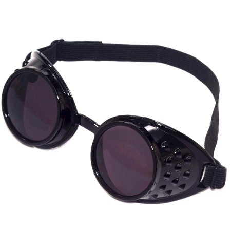 Black Steampunk Goggles Adult Halloween Accessory