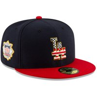Los Angeles Dodgers New Era 2019 Stars & Stripes 4th of July On-Field 59FIFTY Fitted Hat - Navy/Red