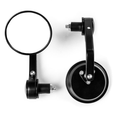 Dakar Bar (Krator Universal Round Bar End Mirrors Over Under Handlebars For 7/8
