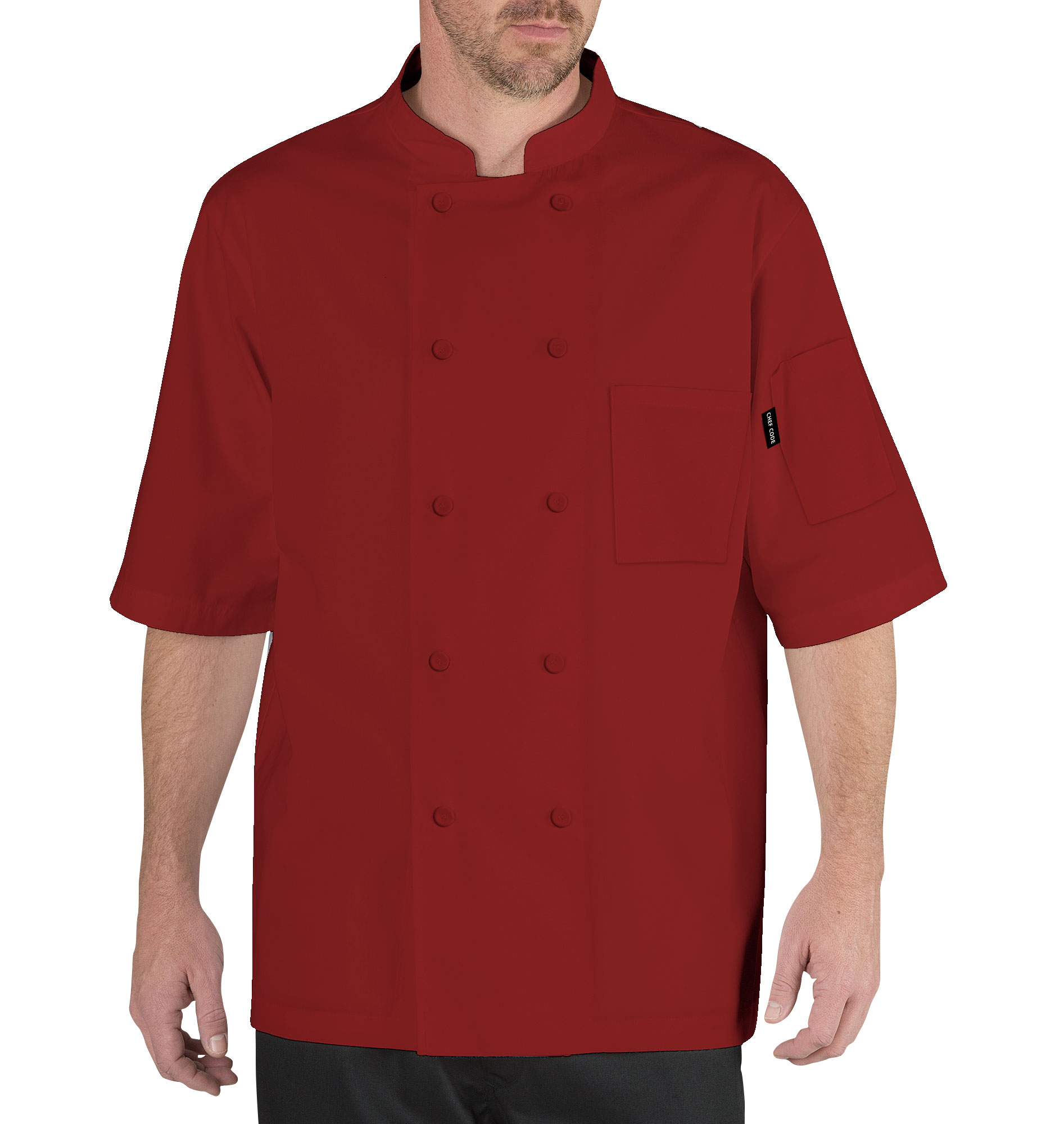 Chef Code Cool Breeze Chef Coat with Short-Sleeves and Mesh Vent Inlay CC105 by Chef Code