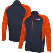 Denver Broncos Combine Authentic Two-a-Days Half-Zip Jacket - Navy