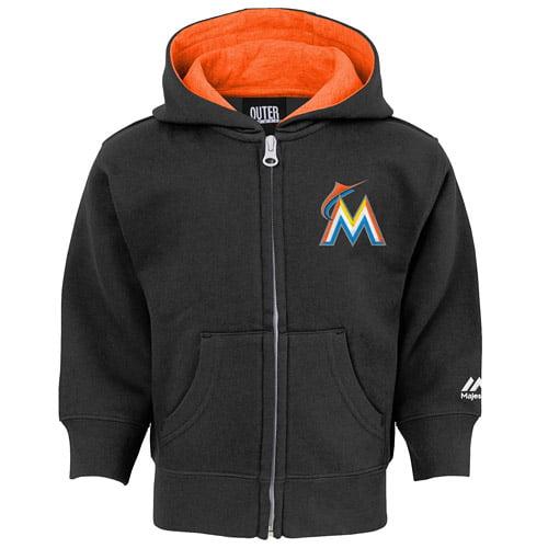 Miami Marlins Majestic Toddler Full-Zip Hoodie - Black