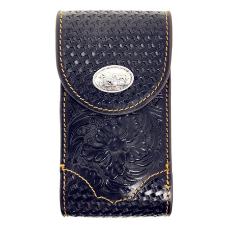 - Western Cowboy Small Size Genuine Leather Praying Cowboy Smartphone Galaxy Iphone Holder Holster Cellphone Case