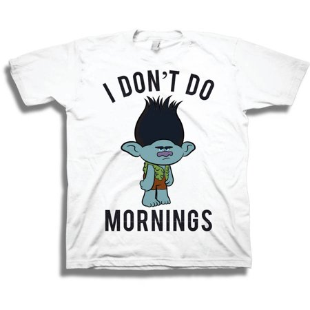 b29aa8596428 Trolls - Toddler Boy Branch 'I Don't Do Mornings' Short Sleeve Graphic T- Shirt - Walmart.com