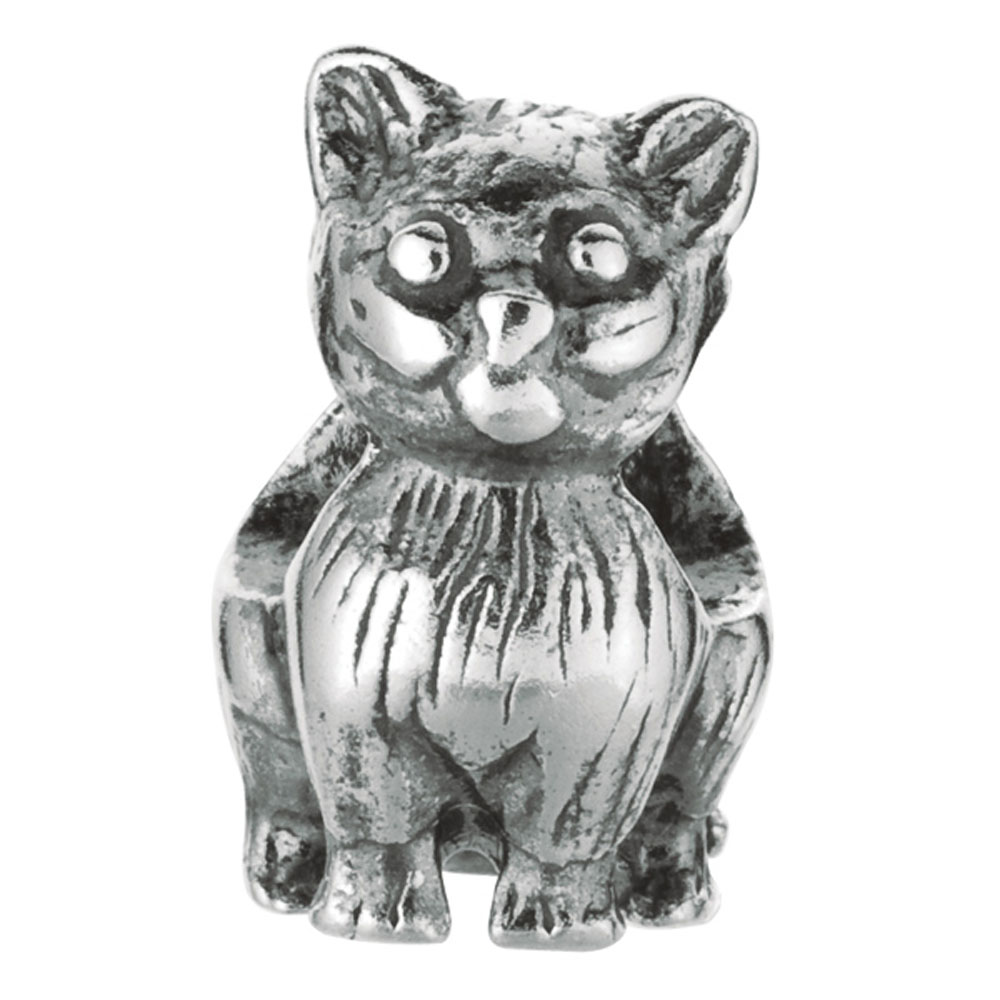 Sterling Silver Cat Bead, For Chamilia, Biagi, Personality, Reflections