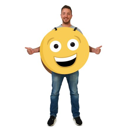 Happy/Sad 2-Sided Cardboard Emoji Costume (Cardboard Maze Halloween)