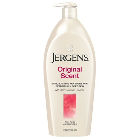 Jergens Original Scent Dry Skin Lotion with Cherry Almond Essence, 32 fl oz Care Products Gel Body Lotion
