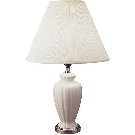 Ore International 26 Quot Ceramic Table Lamp Ivory Walmart Com