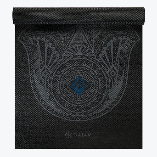 Gaiam Print Yoga Mat, Grey Hamsa, 4mm
