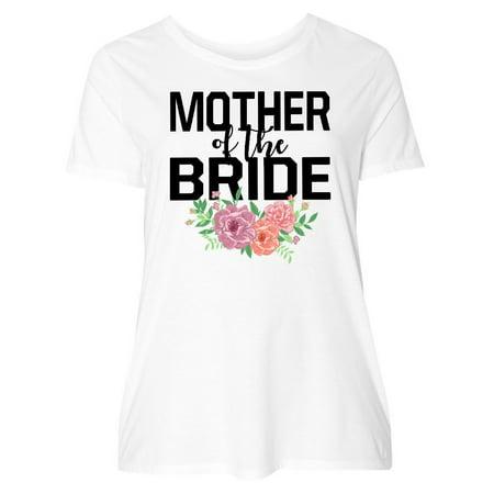 c4877de79 Mother of The Bride with Flower Illustration Women's Plus Size T-Shirt