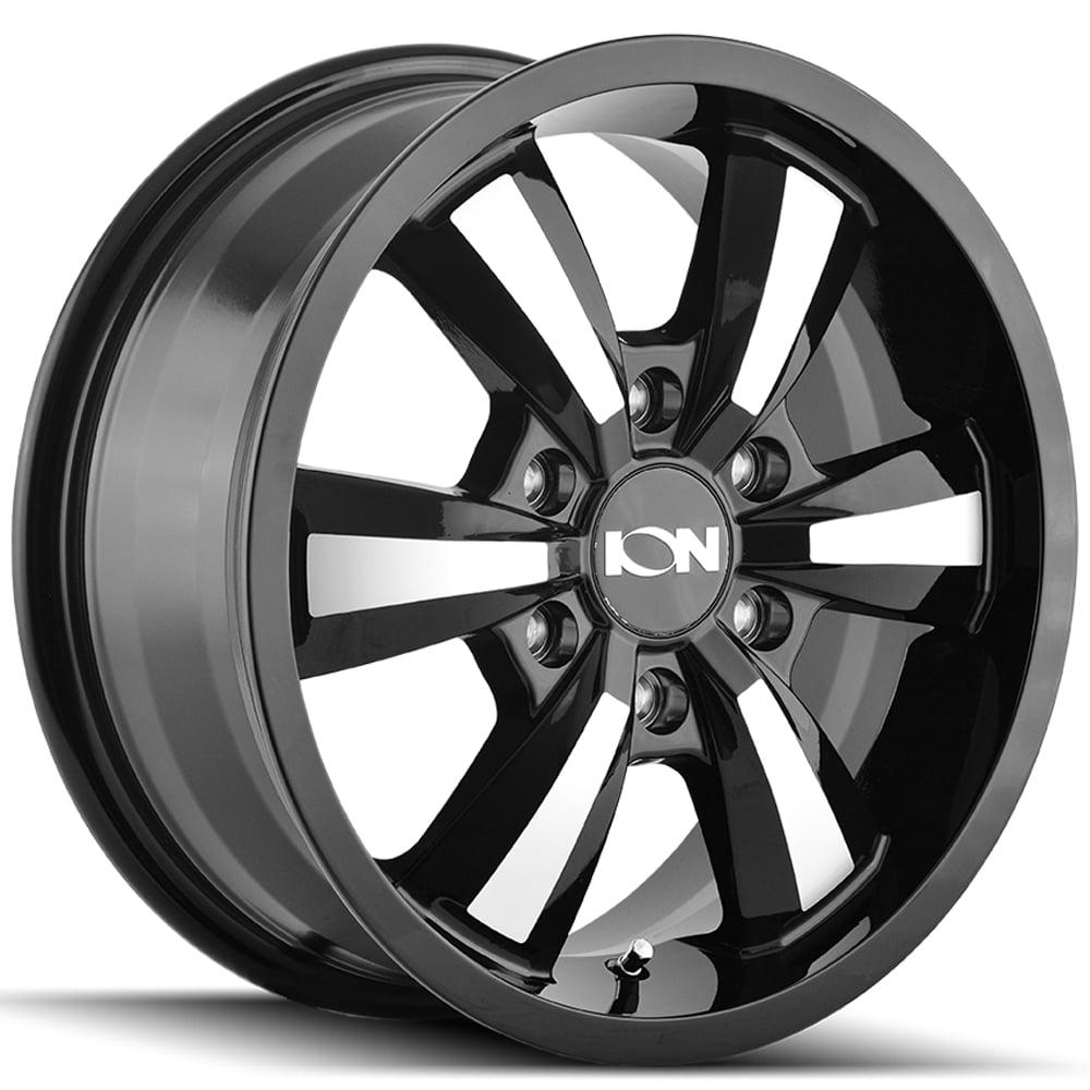 Ion 103 16x6.5 6x130 +45mm Black/Machined Wheel Rim