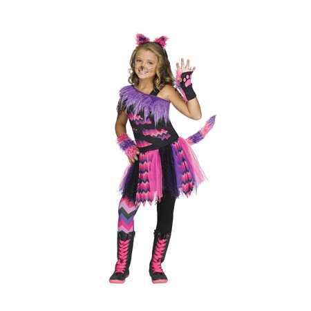 Girls Cheshire Cat Alice in Wonderland Costume (Alice In Wonderland Costume Diy)