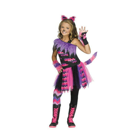 Girls Cheshire Cat Alice in Wonderland Costume](Cheshire Cat Rave Costume)