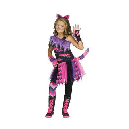 Girls Cheshire Cat Alice in Wonderland Costume - Cheshire Cat Alice In Wonderland Costume