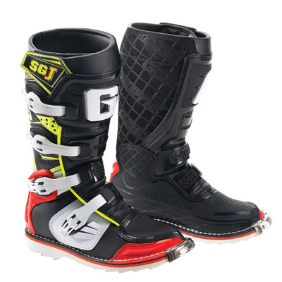 Gaerne SG-J Youth MX Offroad Boots Black/Red/Hi-Viz Yellow