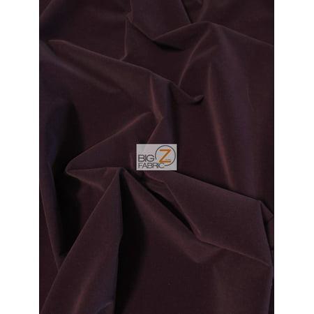 Upholstery Grade Solid Flocking Velvet Fabric / Dark Purple / Sold By The Yard