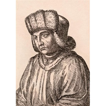 Posterazzi DPI1862382 Jan Van Eyck Aka Johannes De Eyck 1390-1441 Flemish Painter From 75 Portraits of Celebrated Painters From Authentic Ori Poster Print, 12 x 17 - image 1 of 1