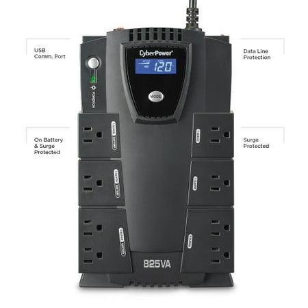 CyberPower CP825LCD Intelligent LCD UPS 825VA 450W (Cyberpower Intelligent Lcd)