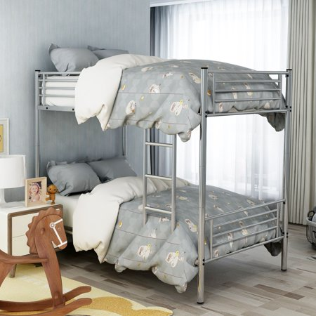 Merax Twin Over Twin Metal Bunk Bed, Multiple