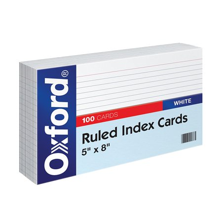 Ruled Index Cards  5  X 8   White  100 Pack  51   Usa  Brand Oxford