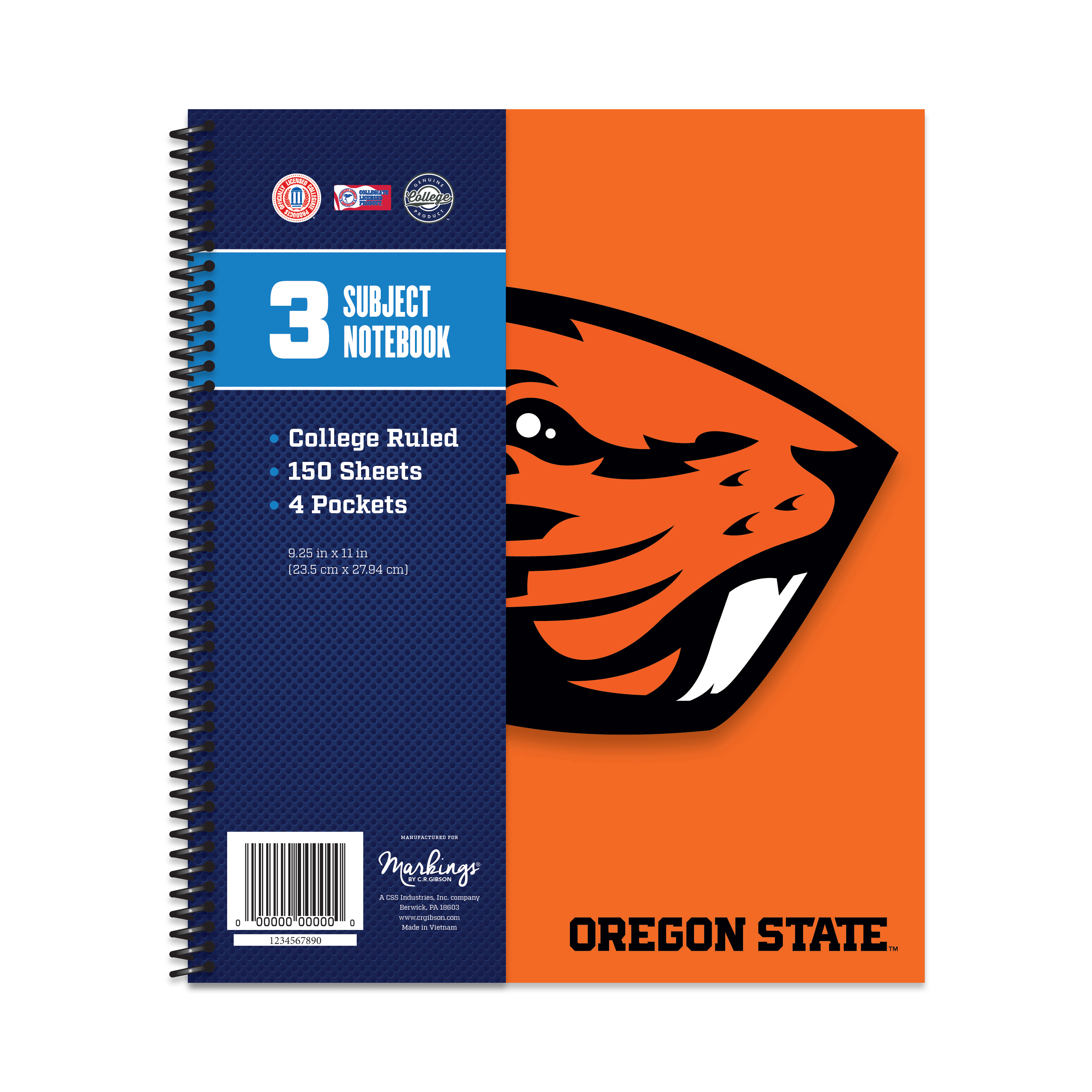OR ST BEAVERS CLASSIC 3-SUBJECT NOTEBOOK