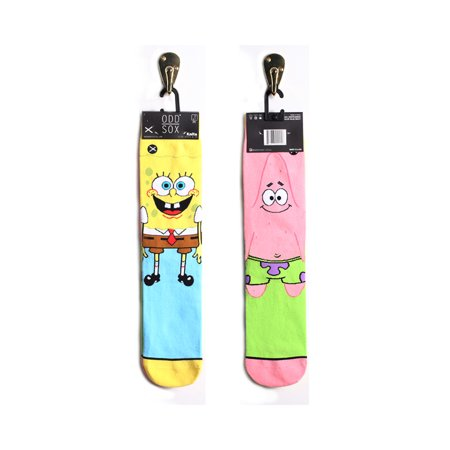 Odd Sox Spongebob Squarepants & Patrick Star Mismatch Socks, 6-13](Spongebob Socks)