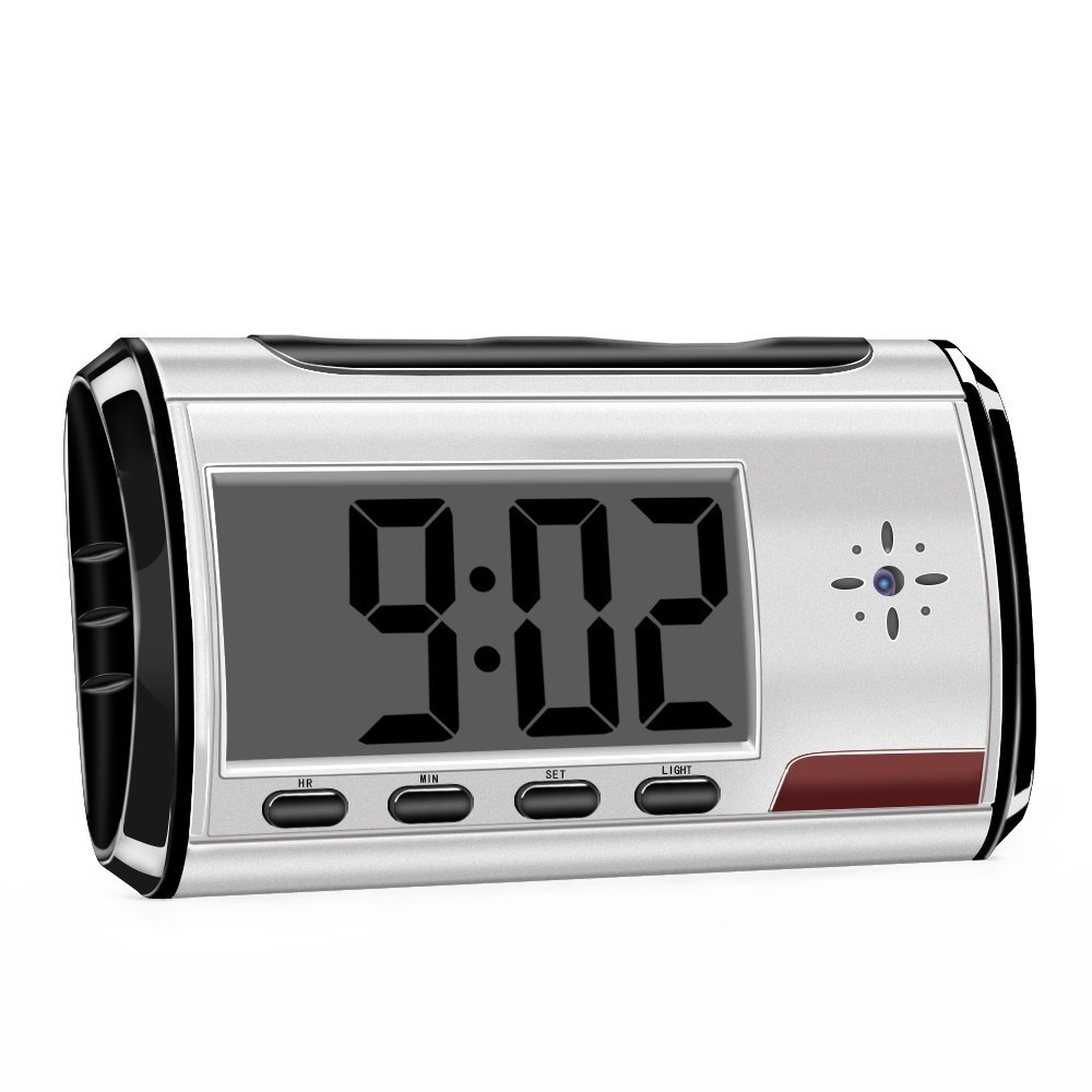 Hidden Spy Camera Alarm Clock HD 1080P Security Camera Loop Video Recorder with Remote Controller