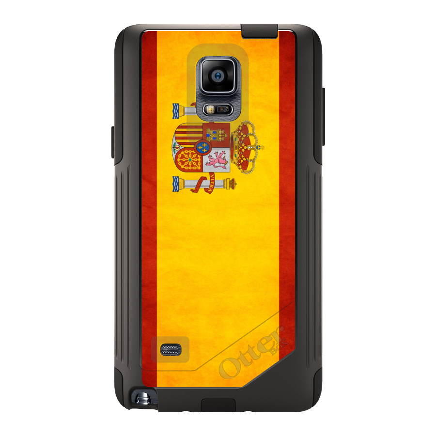 DistinctInk Custom Black OtterBox Commuter Series Case for Samsung Galaxy Note 4...