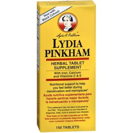 LYDIA PINKHAM supplément à base de plantes comprimé de 150 comprimés (paquet de 4)