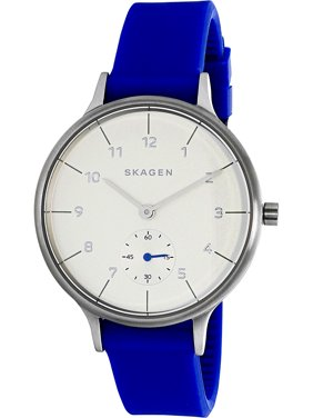 Skagen Women's Anita SKW2602 Blue Silicone Quartz Fashion Watch