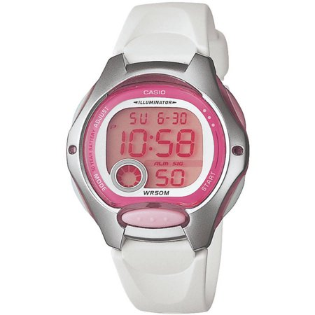 Casio Women's Digital Sport Watch, White Resin Strap