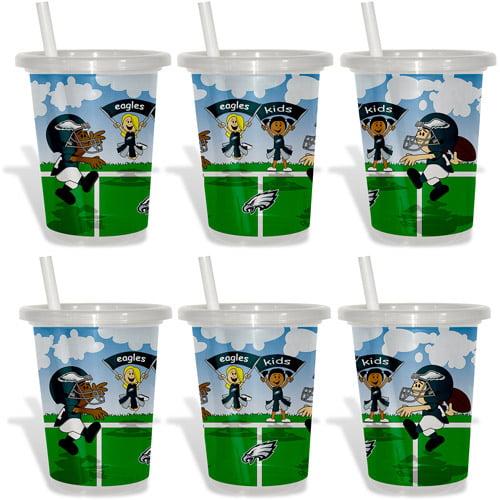 Baby Fanatic NFL 2-Pack 10oz Sip & Go, Philadelphia Eagles, BPA-Free
