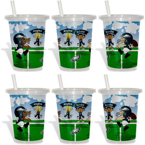 Baby Fanatic NFL 2-Pack 10oz Sip & Go, Philadelphia Eagles, BPA-Free