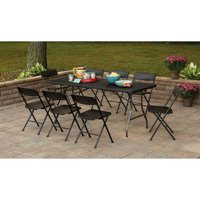 Cosco 6' Centerfold Table with 8 Chairs, Multiple Colors