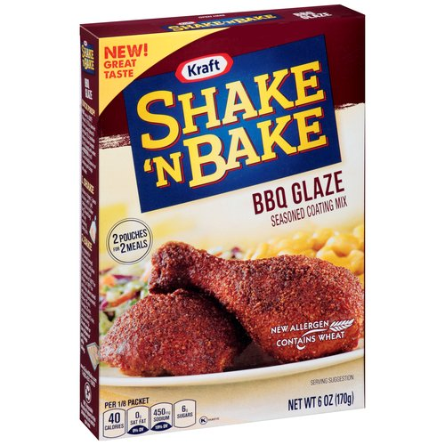 Kraft Shake 'n Bake BBQ Glaze Seasoned Coating Mix, 6 oz