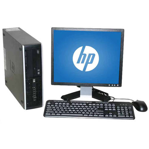 "Refurbished HP 6000 SFF Desktop PC with Intel Core 2 Duo E8400 Processor, 4GB Memory, 17"" LCD Monitor, 1TB Hard Drive and Windows 10 Home"