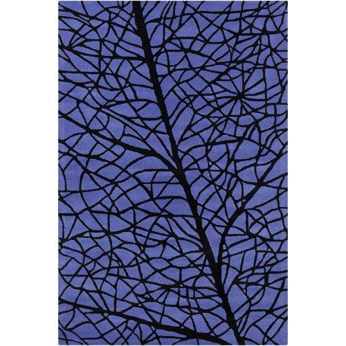 Filament  LLC Cinzia Blue / Black Abstract Area Rug