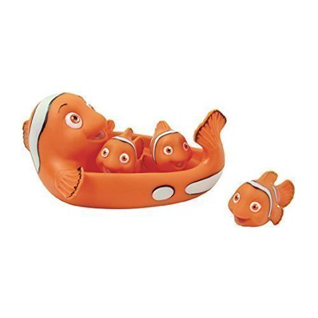 Rubber Clown Fish Family Bathtub Pals - Floating Bath & Pool Toy - image 1 of 1