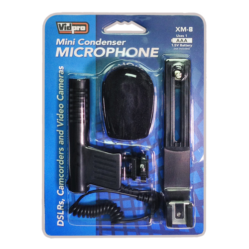 20 Audio Cable Transducer type Panasonic HDC-HS200 Camcorder External Microphone Vidpro XM-L Wired Lavalier microphone Electret Condenser